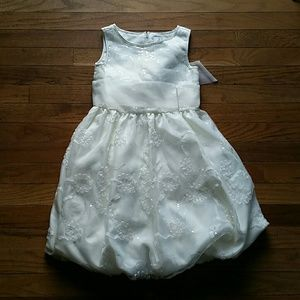 Girl's Special Occasion Dress, Cream, Size 6X.